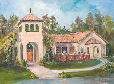 Frederica Presbyterian Church Art Print by Albert Fendig