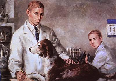Frederick Banting And Charles Best Art Print by Everett