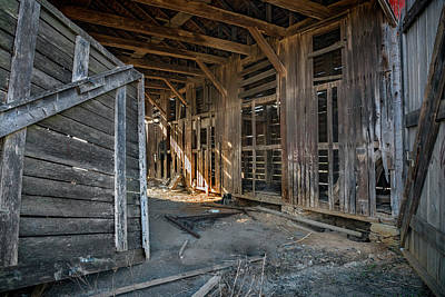 Photograph - Frederick Barn Interior by Murray Bloom