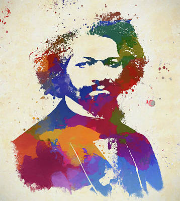 Painting - Frederick Douglass by Dan Sproul