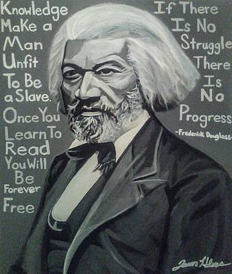 Douglass Painting - Frederick Douglass by Jason Majiq Holmes