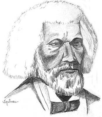Douglass Drawing - Frederick Douglass by Jim Stovall