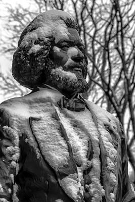 Frederick Douglass Photograph - Frederick Douglass Statue Ny Historical Society by Robert Ullmann