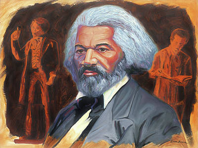 Frederick Douglass Painting - Frederick Douglass by Steve Simon
