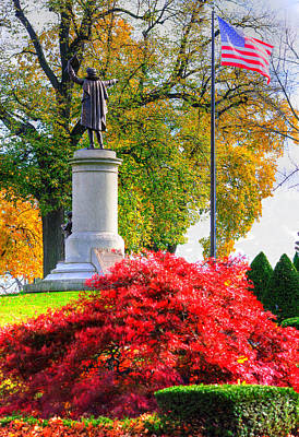 Photograph - Frederick Maryland Historic District - Francis Scott Key Monument No. 8c - Mount Olivet Cemetery by Michael Mazaika