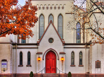 Photograph - Frederick Maryland Historic District Series - Entrance To The Evangelical Lutheran Church No. 15b by Michael Mazaika