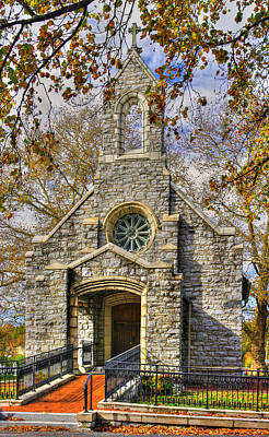 Photograph - Frederick Maryland Historic District Series - Key Memorial Chapel No. 6, Mount Olivet Cemetery by Michael Mazaika