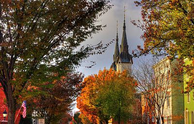 Photograph - Frederick Maryland Historic District Series - The Evangelical Lutheran Church No. 9a, Church Street by Michael Mazaika