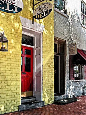 Photograph - Fredericksburg Va - Deli And Gift Shop by Susan Savad