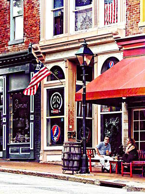 Photograph - Fredericksburg Va - Outdoor Cafe by Susan Savad