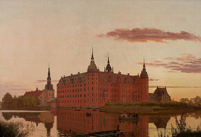 Painting - Frederiksborg Castle Seen From Hunter Bakken by Christen Kobke