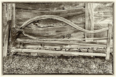Photograph - Fredriksdal Outdoor Museum Wonky Gate by Antony McAulay