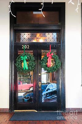 Fredricksburg Door Decorated For Christmas Art Print by Thomas Marchessault