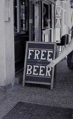Photograph - Free Beer by Tamara Sushko