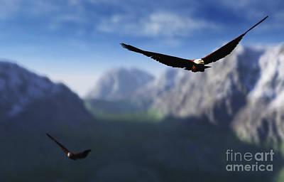 Sore Digital Art - Free Bird by Richard Rizzo