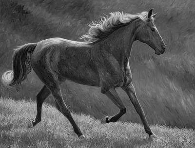 Painting - Free - Black And White by Lucie Bilodeau