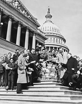 Famous Book Photograph - Free Books For Congress by Underwood Archives