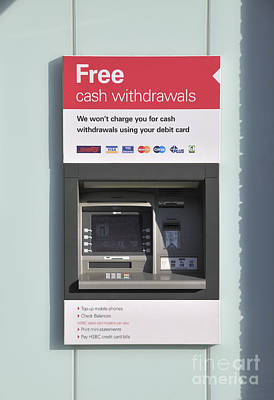 Atm Machine Photograph - Free Cash Withdrawals by Andy Smy