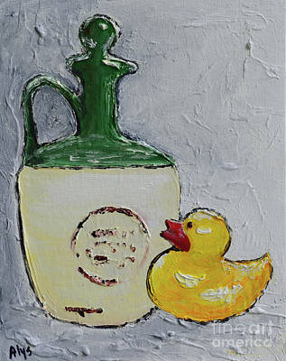 Painting - Free Duck by Alys Caviness-Gober