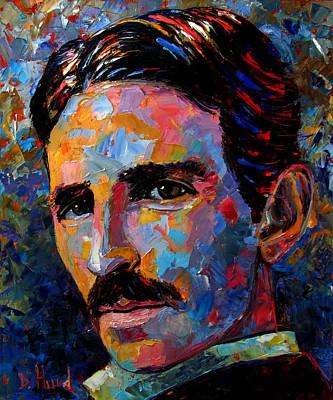 Painting - Free Energy Nikola Tesla by Debra Hurd