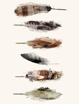 Painting - Free Fall Feathers by Bri B