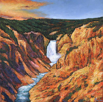 Grand Canyon National Park Painting - Free Falling by Johnathan Harris