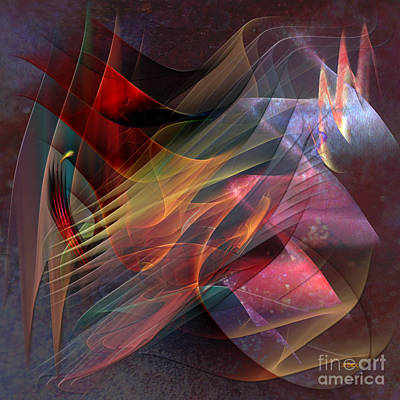 Digital Art - Free Falling, Part 2 - Square Version by John Beck