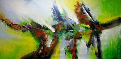 Painting - Free Flight In Green by Skye Taylor