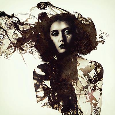 Portraits Digital Art - Free Flow by Katherine Smit