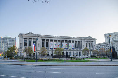 Library Digital Art - Free Library Of Philadelphia In April by Bill Cannon