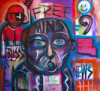 Painting - Free Mind by Wall  Street