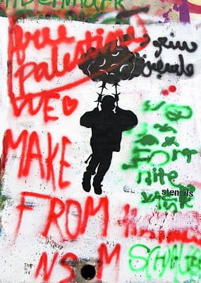 Photograph - Free Palestine In Red by Munir Alawi