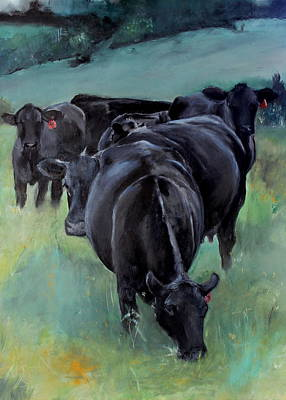 Painting - Free Range Cow Girls by Michele Carter