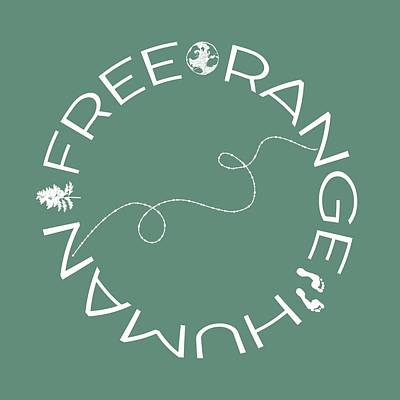 Digital Art - Free Range Human Circle by Heather Applegate