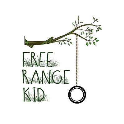 Free Range Kid Art Print