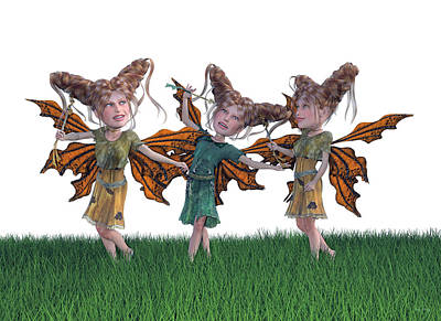 Elf Digital Art - Free Spirit Friends by Betsy Knapp