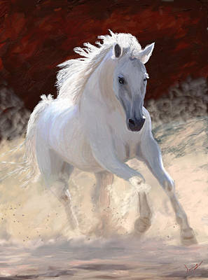 Wild Horse Painting - Free Spirit by James Shepherd