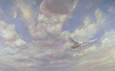 Painting - Free Spirit - White Dove Of Hope by Robie Benve