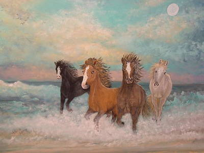 Painting - Free Spirits Of The Surf by Patti Lennox