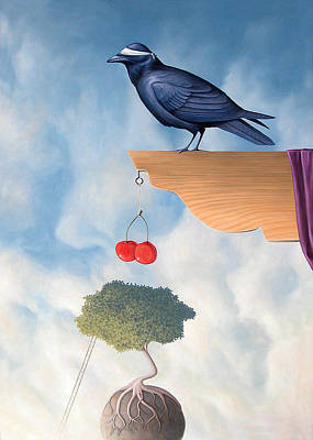 Metaphysical Realism Painting - Free Thinking Mystic With Accessible Fruit  by Paul Bond