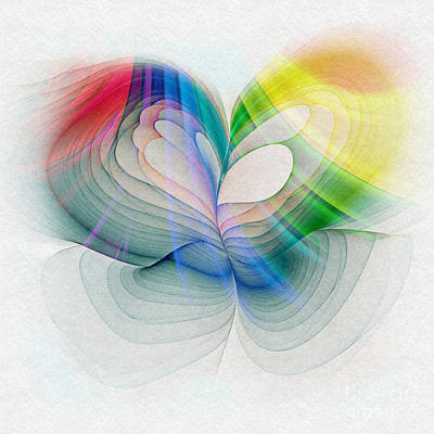 Abstract Hearts Digital Art - Free To Live And Love by Klara Acel