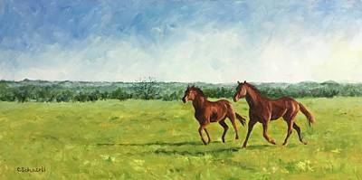 Painting - Free To Run by Connie Schaertl