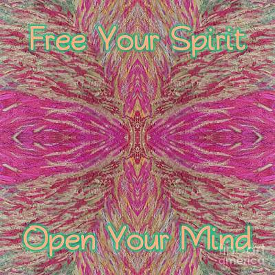 Digital Art - Free Your Spirit by Rachel Hannah