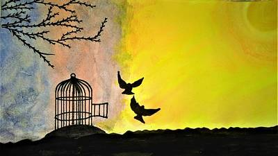 Imprisonment Painting - Freedom by Aarti Makkar