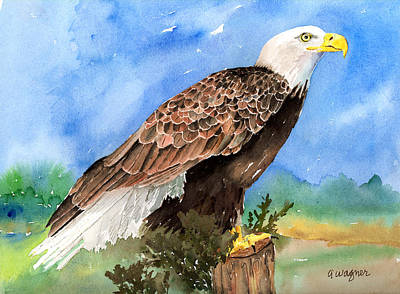 Bird Painting - Freedom by Arline Wagner