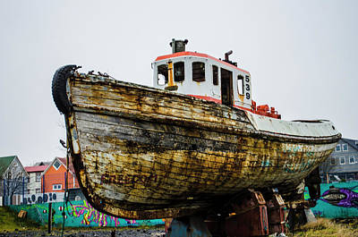Photograph - Freedom Boat Reykjavik Iceland by Deborah Smolinske