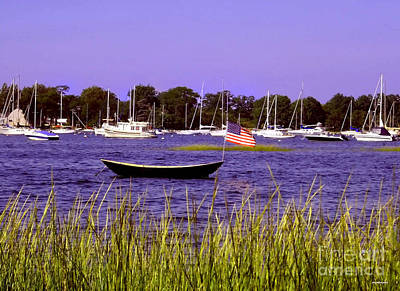 Travel Pics Royalty-Free and Rights-Managed Images - Freedom Bristol harbor Rhode Island by Tom Prendergast