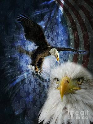 Digital Art - Freedom - Eagle by Maria Urso