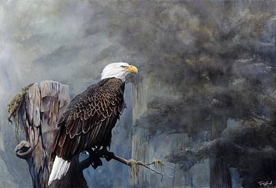 Bald Eagle Painting - Freedom Haze by Steve Goad