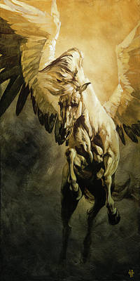 Pegasus Wall Art - Painting - Freedom by Heather Theurer